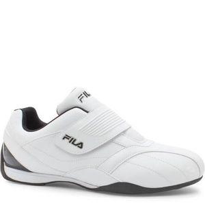 Fila Mens Mach T Sneaker Shoes White Black Size 13